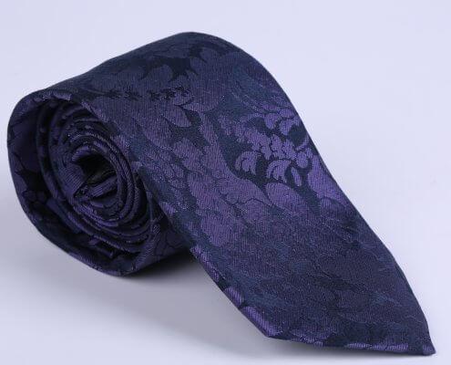 purple floral tie